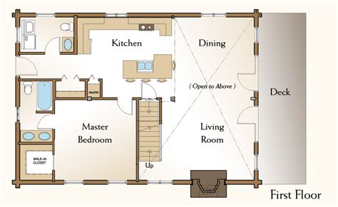 log lodges floor plans 28x40 floor plans the piedmont log home first floor plan