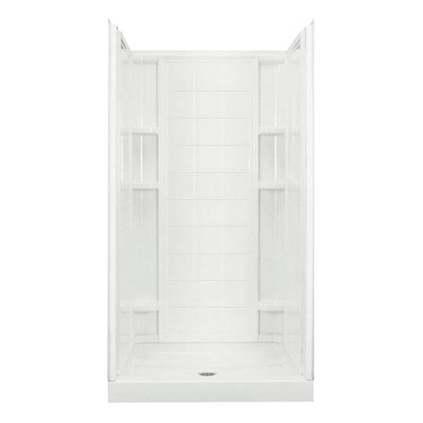 Home Depot Shower Kits by Pebbled Shower Stalls Kits Showers The Home Depot