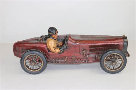 vintage bugatti veyron vintage large racing bugatti model with driver with