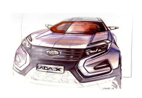 sketch book car 2016 lada xcode concepts