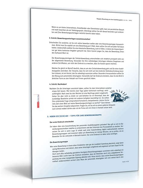 Bewerbung Optiker Beispiel Bewerbungs Paket Ausbildungsplatz Optiker Muster Zum