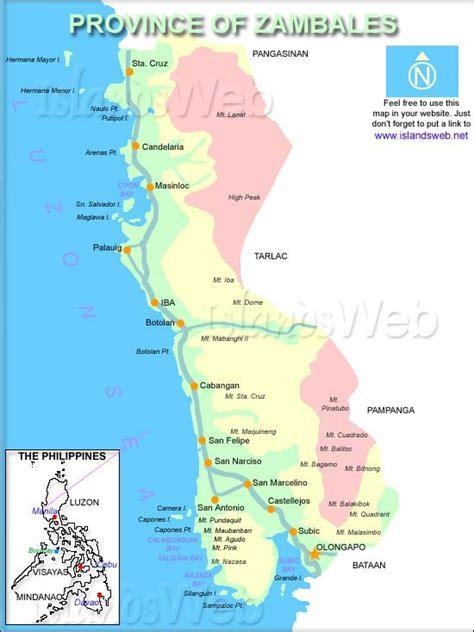 iba zambales resort map map of zambales province philippines citiestips