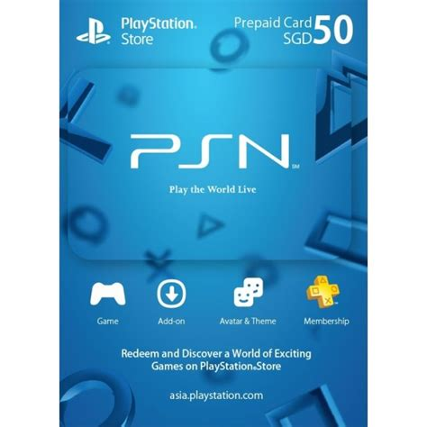Psn Gift Cards - psn card 50 sgd playstation network singapore digital