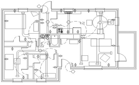 house plan with electrical layout electrical layout plan house