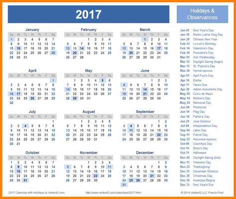 holidays festivals list 2018 2017 calendar printable for