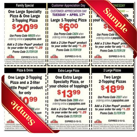 papa john s discount vouchers papa johns printable coupon december 2016