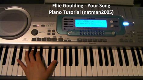 tutorial guitar your song how to play your song by ellie goulding on piano and
