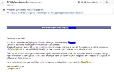 voorbeeld email cheaptickets e mail voorbeeld hoe je niet moet schrijven