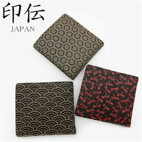 japanese leather wallet pattern monolog rakuten global market inden two fold wallet