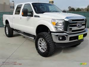 2011 ford f250 duty lariat crew cab 4x4 in white