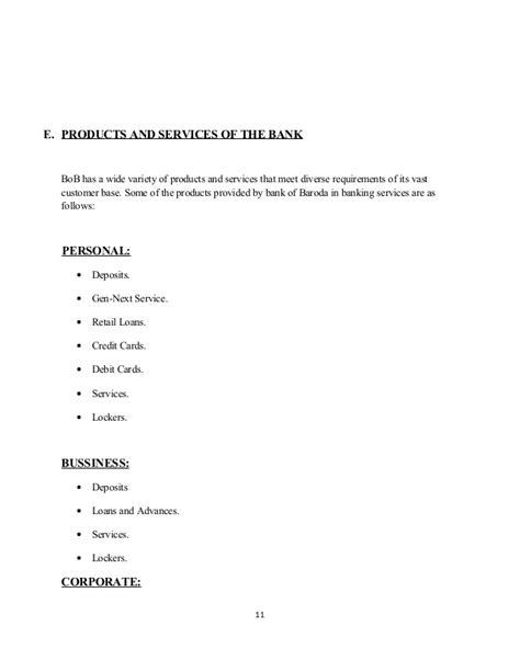 Bank Of Baroda Letter Of Credit Project On Bank Of Baroda