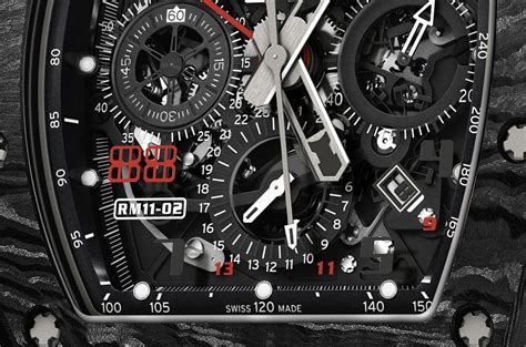 Ntpt Carbon Limited Edition Movement Custom Modified Swiss 7750 F 1 richard mille rm 11 02 automatic flyblack chronograph dual time zone jet black limited edition