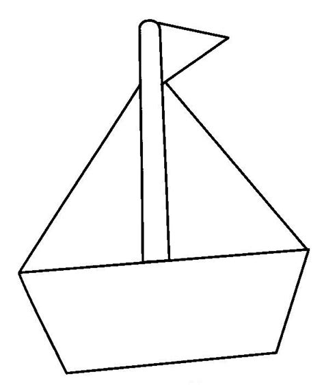 barcos sencillos para colorear barco escuela en la nube
