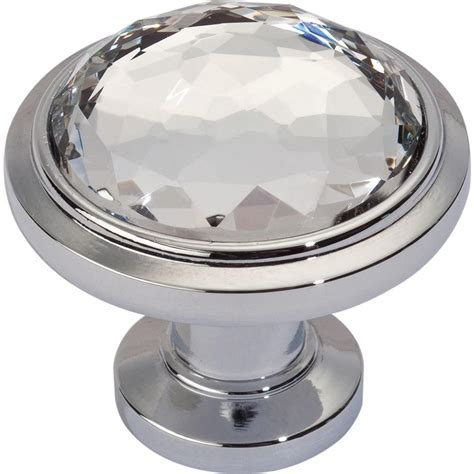 polished chrome cabinet knobs dewalt legacy crystal collection 1 1 4 in polished chrome