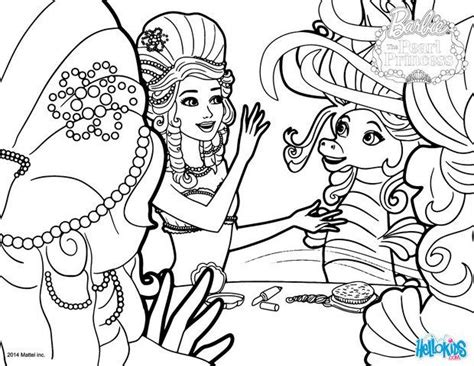 Lumina And Kuda The Seahorse Coloring Pages Hellokids Com Pearl Princess Coloring Pages