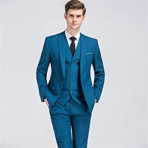 Sliming Suit 3 In 1 2018 jacket vest suits classic business mens 3 suit slim fit wedding groom