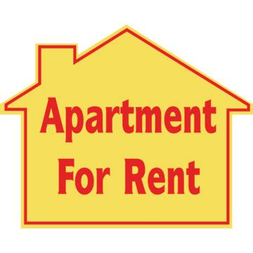 promotional apartment for rent house sign 22 1 2 x 18