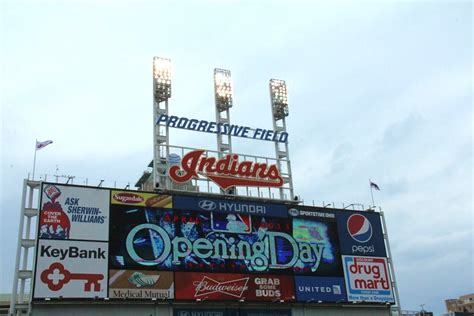 exactly 1 month from right now is the tribe home opener