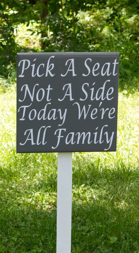 Wedding Quotes A Seat Not A Side by Seating Wedding Sign A Seat Not A By Thefreckledowlstudio