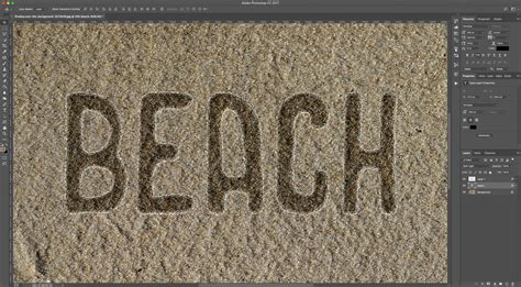 sand typography photoshop tutorial text on sand in photoshop design bundles