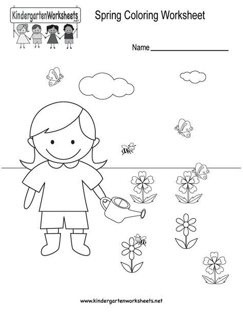 coloring activities for kindergarten spring pages free colors activities for kindergarten images