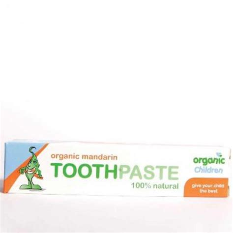 Green Organic Children Toothpaste organic children mandarin toothpaste in 50ml from green