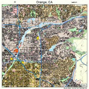 orange california map 0653980