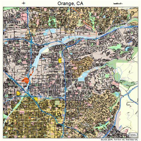 orange map orange california map 0653980