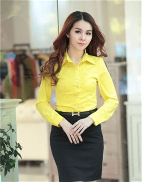 Tunik Heaven Light by Kemeja Wanita Cantik Warna Kuning Korea Jual Model