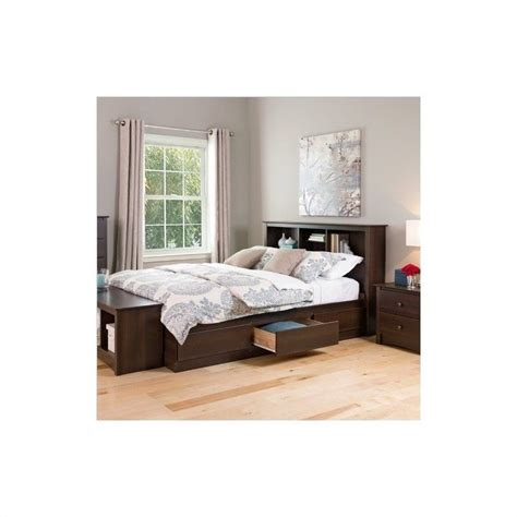 manhattan bedroom set manhattan bookcase platform bed 3 bedroom set in espresso ebx bed kit 3pcbedroom pkg