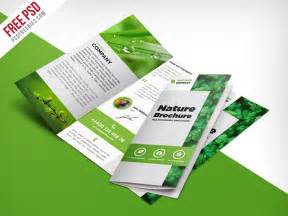 Brochure Design Templates Free Psd by Nature Tri Fold Brochure Template Free Psd Psdfreebies