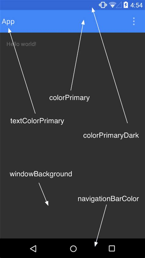 android colors material design primer codepath android cliffnotes