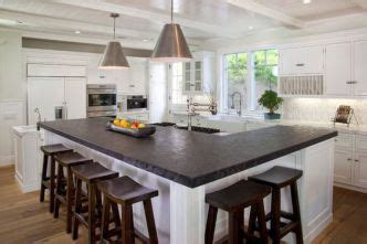modern farmhouse bar stools  shaped kitchen