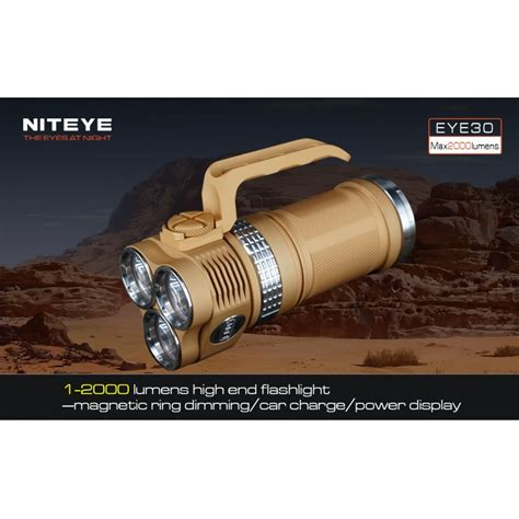 Niteye Eye30 Senter Led Cree Xm L U2 2000 Lumens niteye eye30 senter led cree xm l u2 2000 lumens desert sand jakartanotebook
