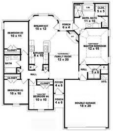 One Story 4 Bedroom House Plans one story 4 bedroom 2 bath traditional style house plan house plans