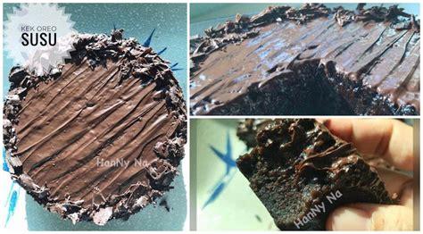 resepi kek coklat   guna  bahan  senang