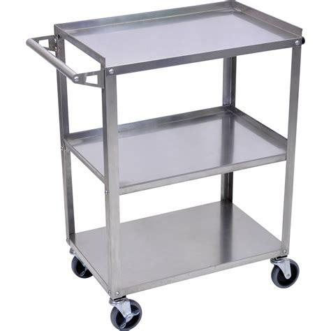 Cart Shelf by Luxor Stainless Steel 3 Shelf Cart Ssc 3 B H Photo