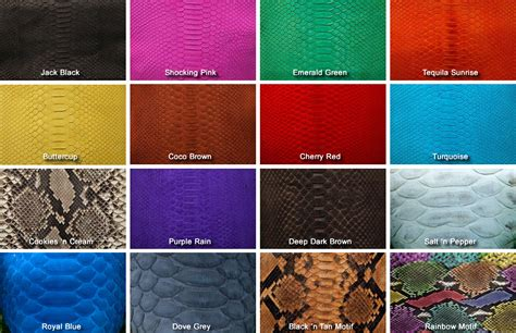 python colors 2ndskin leather by design