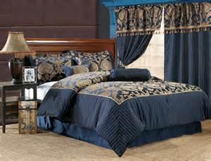7pcs royal floral bedding comforter set navy ebay