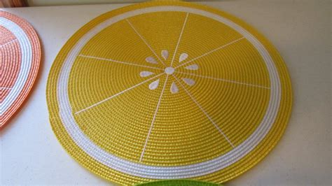 placemats watermelon for summer i have a round table this would summer fruit orange lemon watermelon kiwi braided placemat