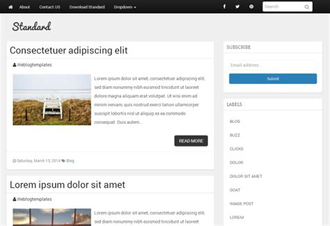 basic templates for bootstrap bootstrap blogger templates