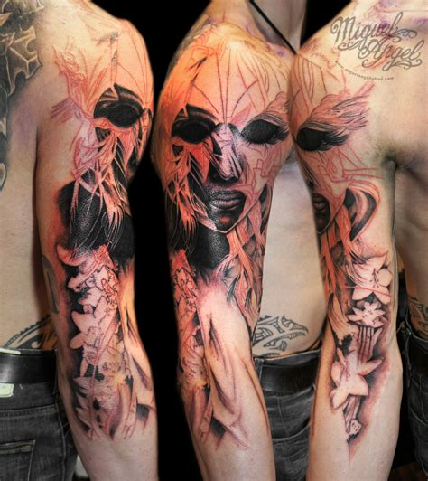 japanese face tattoo designs cool tattoos