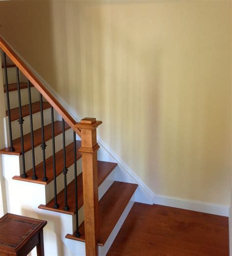 iron balusters traditional staircase chicago by