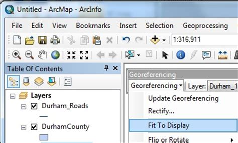 tutorial georeferencing arcgis arcgis tutorial georeferencing imagery duke libraries