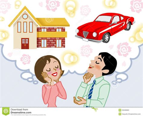 dreaming of a house couple dreaming house and car eps10 stock vector image 35590860
