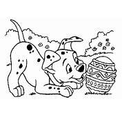 Dibujos Para Colorear 101 D&225lmatas  Perrito Con Huevo