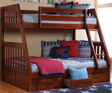 Bunk Bed World Discovery World Furniture Merlot Bunk 2818 Bed For Bunkbeds