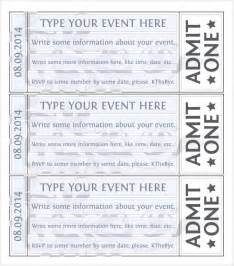 Ticket Template by Event Ticket Template 7 Premium And Free For