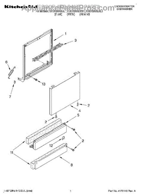 Parts For Kitchenaid Dishwasher For Door Whirlpool Wp9743986 Dishwasher Door