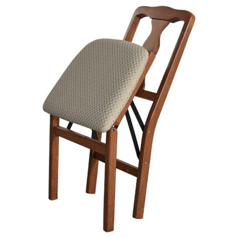 stakmore upholstered folding chair set of 2